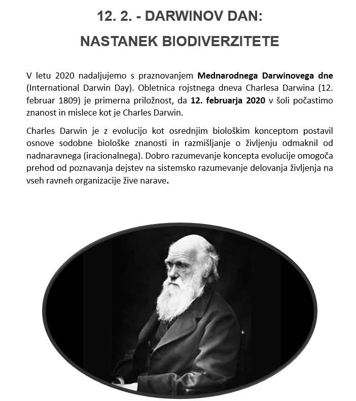 DARWINOV DAN 2020